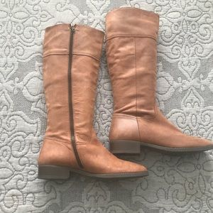 J.Crew tan leather tall boots